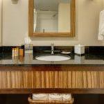 Guest room vanity base