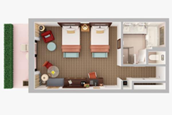 05 hotel guest room 3D plan turkey