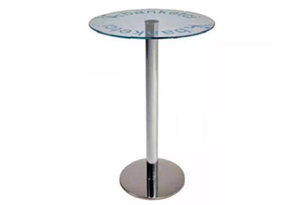 C3-Tempered Glass Top Banquet Cocktail Bistro Table Made in Turkey
