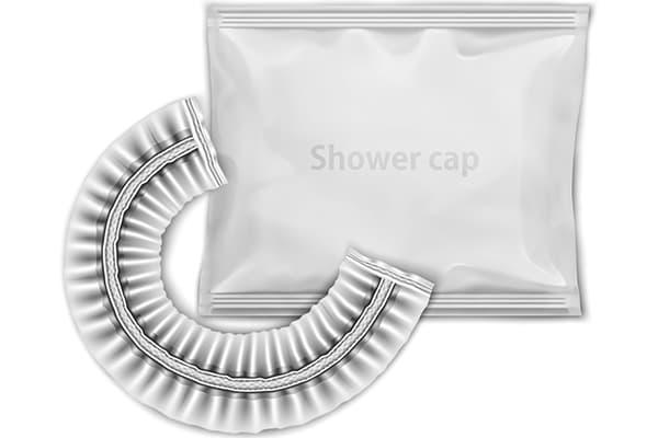 hotel shower cap