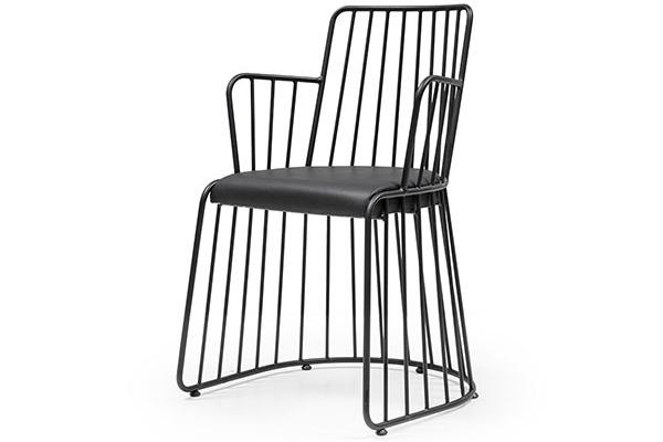 Metal restaurant chair made in Turkey