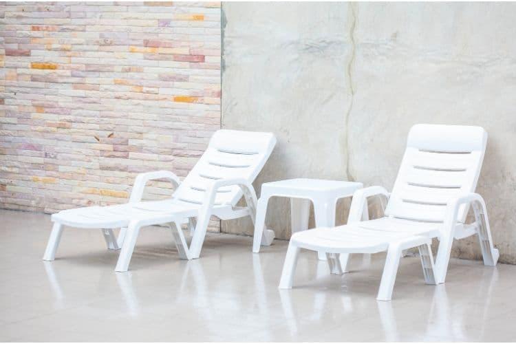 Plastic pool furniture made in Turkey