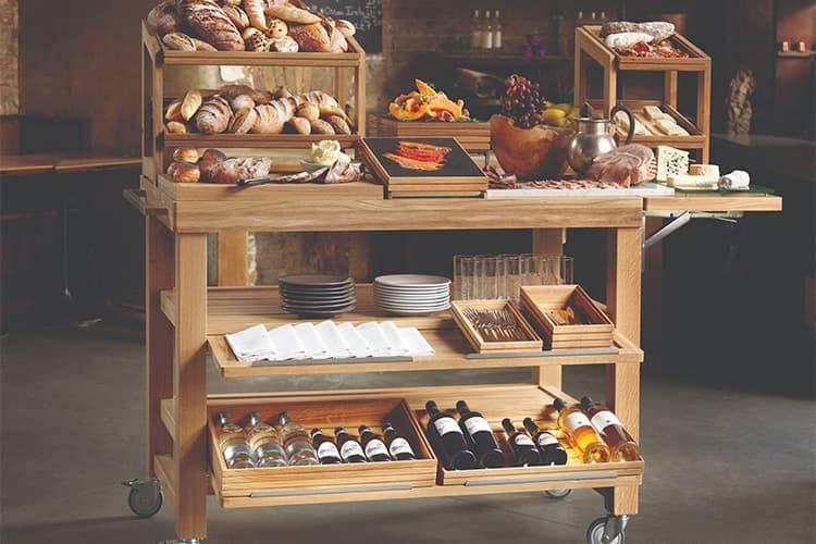 Restaurant service trolley made in Turkey