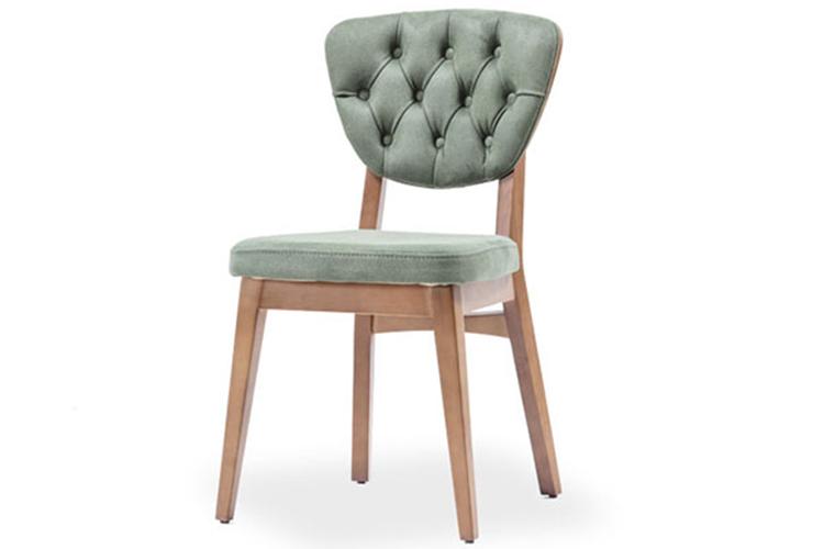 Wooden restaurant chair made in Turkey