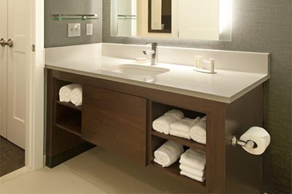 hotel guest room bathroom cupboard made in Turkey