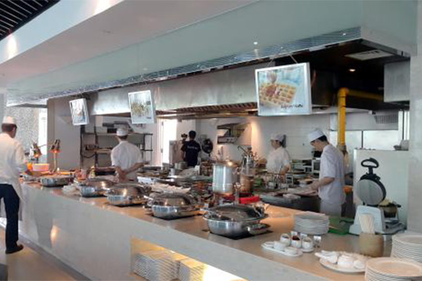 hotel restaurant buffet live cooking section made in turkey