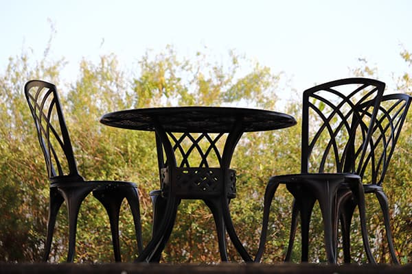 patio furniture table and chair made in turkey