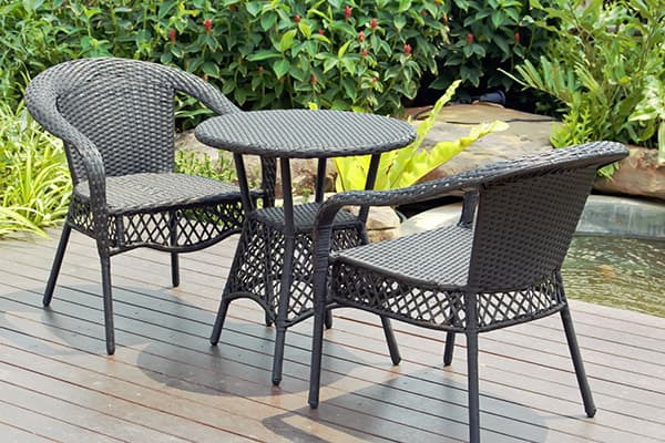 rattan outdoor table made in turkey
