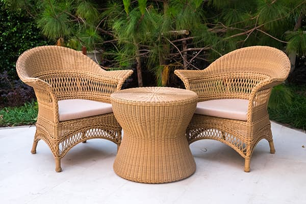 rattan outdoor table and chair made in turkey