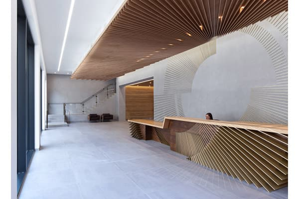 Commercial office reception welcome desk made in turkey