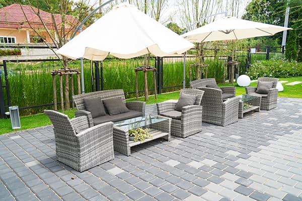 rattan furniture garden dining set
