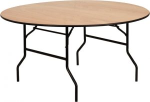 stackable round banquet table produced in turkey