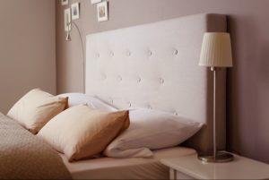 hotel guest room headboard bedhead
